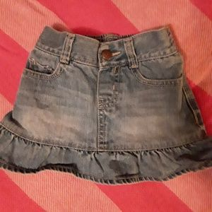 3T Osh Gosh denim skirt